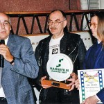 The Museum's Directors receiving the Haghefilm Award
