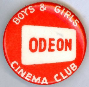 Badge advertising the odeon boys & girls cinema club