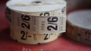 A roll of 'Ivy Series' brand cinema tickets