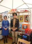 Anna & George at the Cinema Museum stand at Vintage at Goodwood