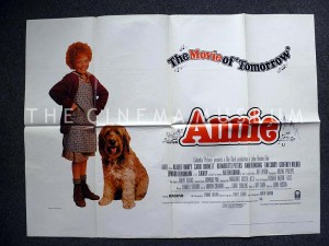 A poster for Annie