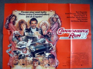 A poster for Cannonball Run II