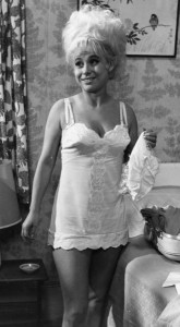 Barbara Windsor in her petticoat
