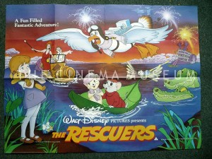A poster for The Rescuers