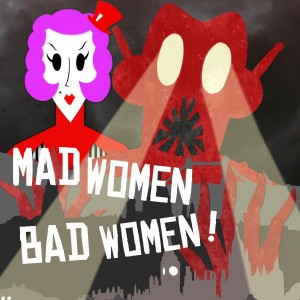 publicity image for Mad Women, Bad Women! using shadow cut-outs