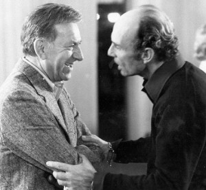 Raymond with Jack Klugman on the set of Quincy M.E.