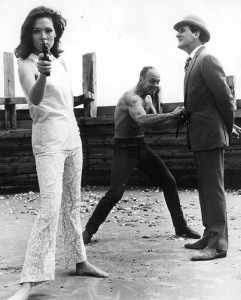 Raymond Austin with Diana Rigg and Patrick Macnee