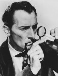 Peter Cushing as Sherlock Holmes