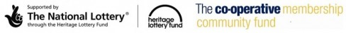 Heritage Lottery Fund & Co-op sponsor logos
