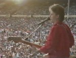Jo playing Wembley Stadium with Sector 27 - 1984