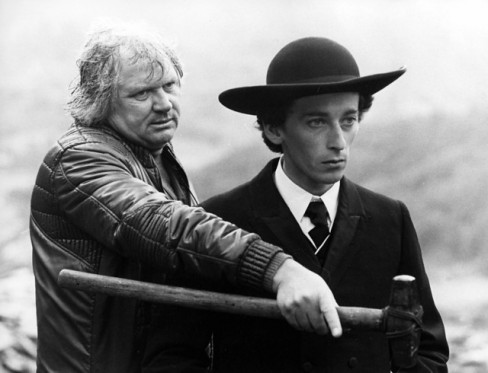 Ken Russell with Robert Powell filming Mahler