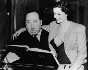 Alfred Hitchcock and Margaret Lockwood