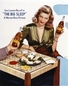Lauren Bacall advertising Royal Crown Cola
