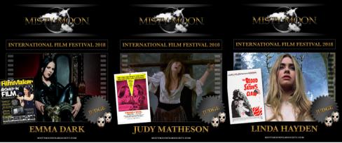 Festival Judges - Emma Dark, Judy Matheson, Linda Hayden