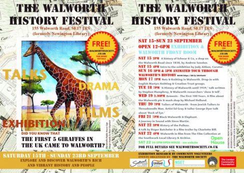 The Walworth History Festival
