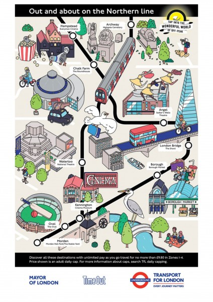 Northern Line TfL poster