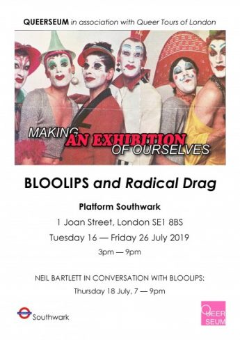 Bloolips and Radical Drag poster