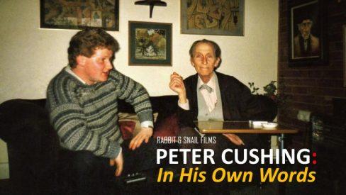 Director Richard Edwards with Peter Cushing, May 1986
