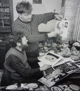 Oliver Postgate and Peter Firmin