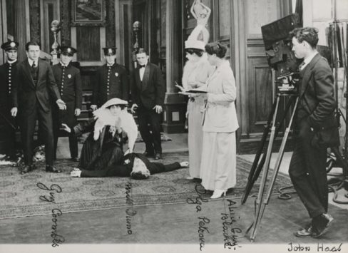 Alice Guy-Blaché on set